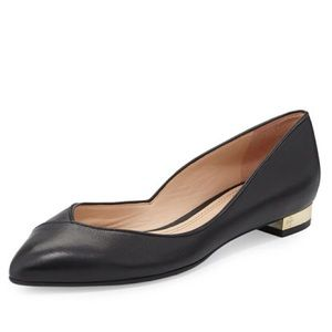 EUC- Tory Burch Black Pointed Toe-Nicki Flats